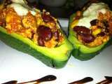 Rezept Chili sin carne mit avocado topping