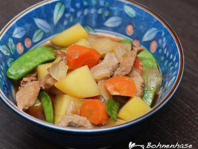 Rezept Nikujaga / sautéed meat with vegetables