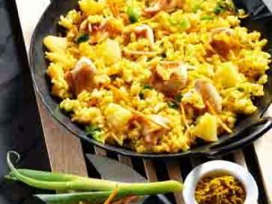 Rezept Curry-risotto mit huhn