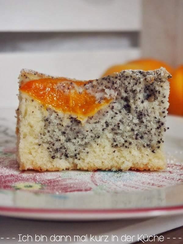 Mohn-eierlikör-kuchen mit aprikosen, Rezept Petitchef