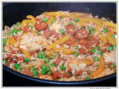 Schnelle küche: hähnchen-risotto-pfanne, Rezept Petitchef